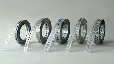 50m = 5 Rollen Lochband verzinkt 12mm/10m Drahtverschluss Montageband