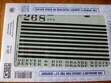 Microscale Decal G #24-8 (2sheet) Rio Grande (D&RGW) Steam - Narrow Gauge - C-16