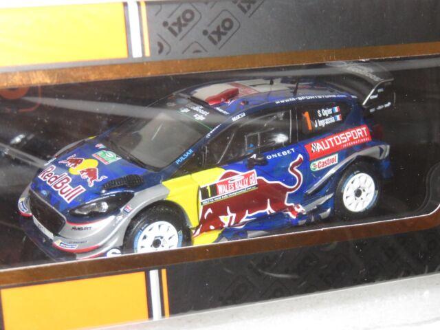 1/43 FORD FIESTA WRC Red Bull/Autosport Wales Rally Gb 2017 S. Ogier W. CHAMPION