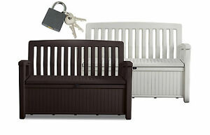 gartenbank heaven kissentruhe auflagenbox sitzbank kissenbox gartentruhe bank ebay. Black Bedroom Furniture Sets. Home Design Ideas