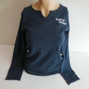Pull manches longues bleu ROLLING STONES M 16 ans 2011 MUSIDOR BV pop N5389