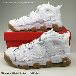 More Limited White Edition Nike Uptempo Shoes Mens Gum Air Trainers S5WURqwB