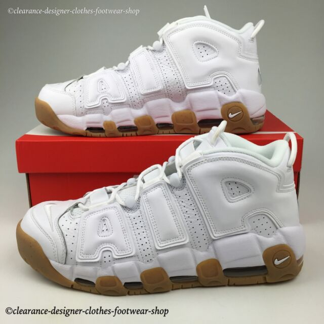 02f44ec9a64f0b NIKE AIR MORE UPTEMPO TRAINERS MENS WHITE GUM LIMITED EDITION SHOES UK 10