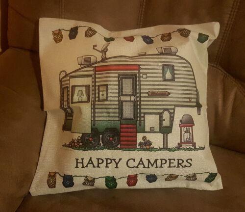 CARAVANES Camping Coussin lin Taie D/'Oreiller Déco Coussins du canapé Camper Motifs Canapé