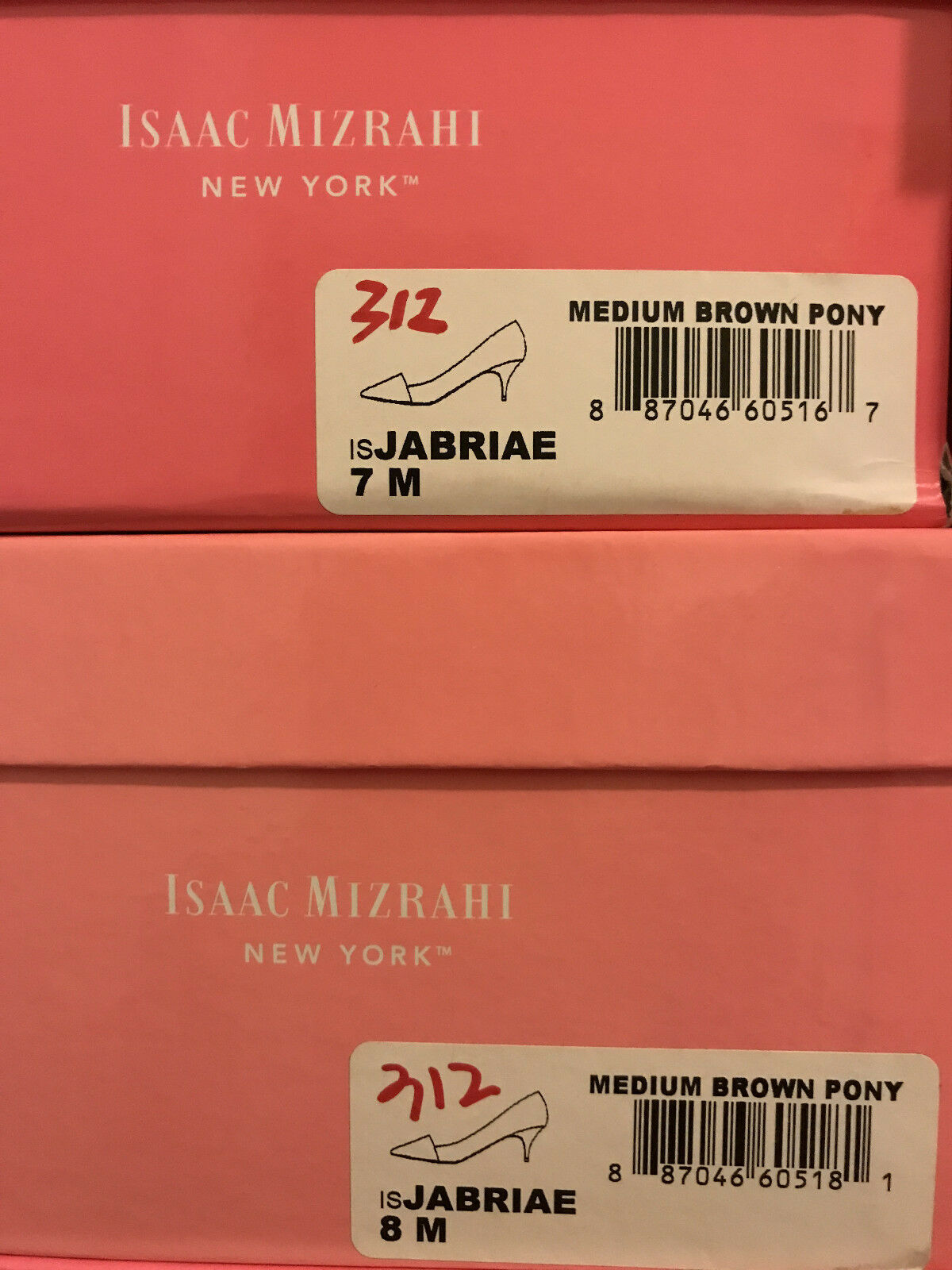 NIB Isaac Mizrahi New York Jabria Pump medium 7 braun pony 6 6.5 7 medium 8 eceff5