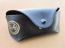 Genuine RAYBAN vintage Black Folding Top Button Sunglasses Case  Luxottica