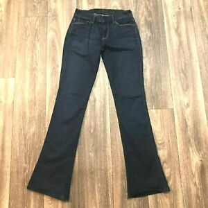 7-Seven-For-All-Mankind-Womens-Size-26-Kaylie-Low-Rise-Flare-Dark-Blue-Jeans