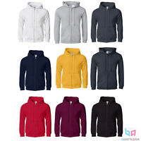 Triple A Alstyle Men's Full-zip Hoodie Blank/plain Colors For Sizes S-3xl Cotton