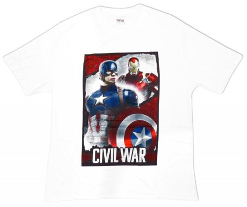 Mens Official Avengers Captain America Civil War Iron Man T-Shirt Top S M L XL