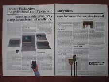 6/1982 PUB HP HEWLETT PACKARD HP PC PERSONAL COMPUTER ORDINATEUR ORIGINAL AD