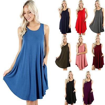 USA Womens Open Cold Shoulder Long Tunic Top Dress A Line Silhouette S M L XL