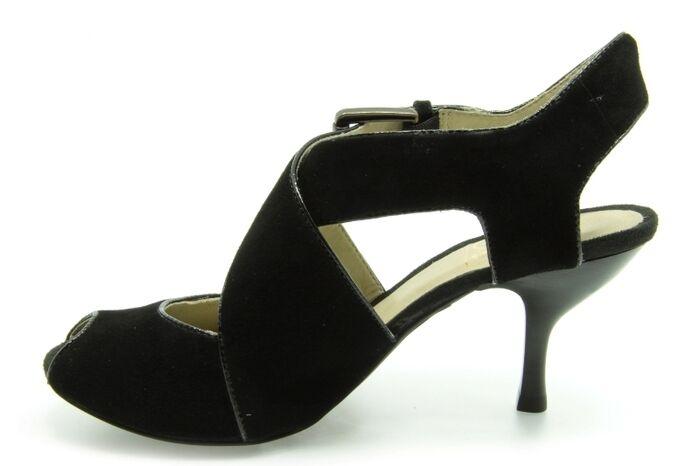 Clarks Damen Tyra Asha schwarzes schwarzes schwarzes Veloursleder Absatz Handgefertigte UK 5 723e1a