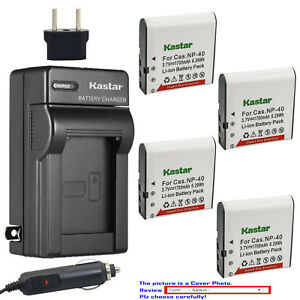 Kastar-Battery-AC-Charger-for-Casio-NP-40-CNP40-amp-Casio-Exilim-EX-FC100-Camera