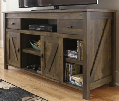 Rustic Tv Stand Smart 4k Entertainment Center Farmhouse 55 60 Inch Barn Door New 717109897270 Ebay