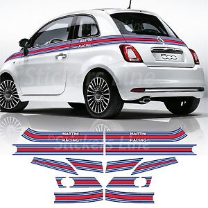 Fasce-adesive-Fiat-500-MARTINI-RACING-Adesivi-martini-racing-strisce-adesivo-500