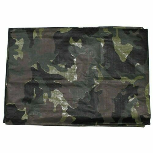 MFH lona cobertora carpa bajo situación BW lona con ojales Woodland impermeable 2 tamaños