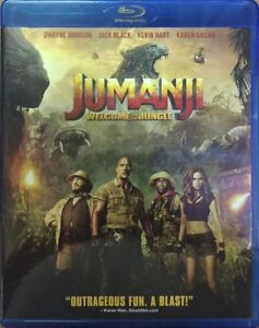 JUMANJI WELCOME TO THE JUNGLE 3D - 2017 HOLLYWOOD MOVIE 3D BLURAY + 2D BLURAY
