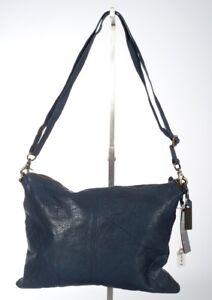 f34077d4a3d4c Das Bild wird geladen Depeche-Handtasche-Echtleder-Tasche-B10352-blau