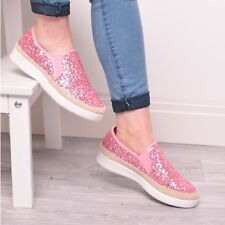 d4c3fe6c7ff8 item 1 Ladies Girls Glitter Trainers Pumps Sneakers Summer Slip On Fashion  Shoes Size -Ladies Girls Glitter Trainers Pumps Sneakers Summer Slip On  Fashion ...