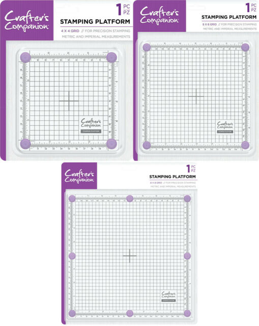 "Crafter's Companion - Stamping Platform 4"" x 4"" Grid or 6"" x 6""  or 8"" x 8"" Grid"