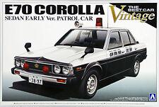 Aoshima 10846 E70 Toyota Corolla Sedan Early Ver. Patrol Car 1/24 scale kit