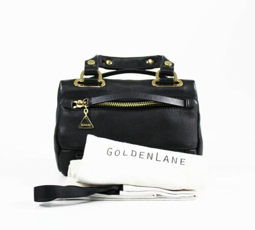 Bolso Black Golden cuero Duo de Mini Lane UWUBCnZ