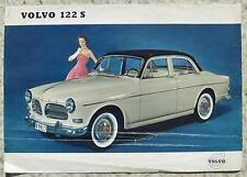 VOLVO 122 S Car Specification Sales Leaflet Sept 1958 #UR 6604