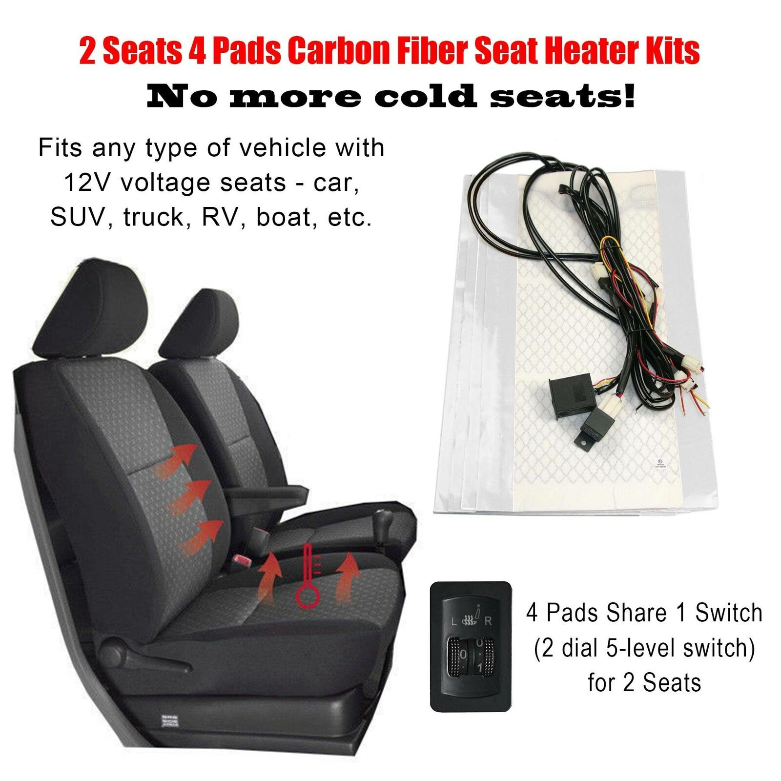 Universal For Car Truck SUV Home Office Chair Pet Heating Pad Heated Car Seat Pad Heated Seat Cushion 5V Car Heat Seat Cushions For Cold Weather And Winter