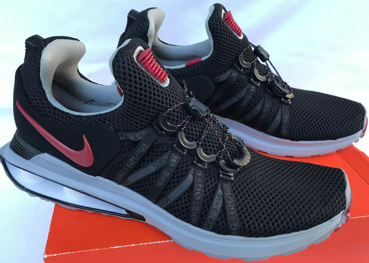 Nike Shox Gravity AR1999-016 Black NZ Casual Marathon Running shoes Men's 15 new
