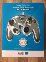 Wii U: Manette Filaire Métal Mario Neuf/new