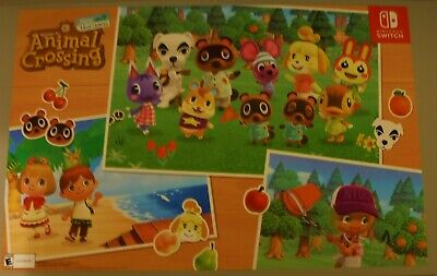 New Nintendo Switch Animal Crossing New Horizons Gamestop Preorder Bonus Poster Ebay