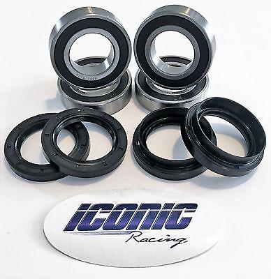 91-15 Suzuki King Quad 300 400 4x4 BOTH Front Wheel Bearing /& Seal Kits
