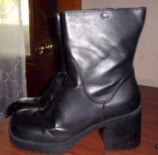 Somethin' Else by Skechers Women's Zip Black Clunky 90's Looking Boots sz11