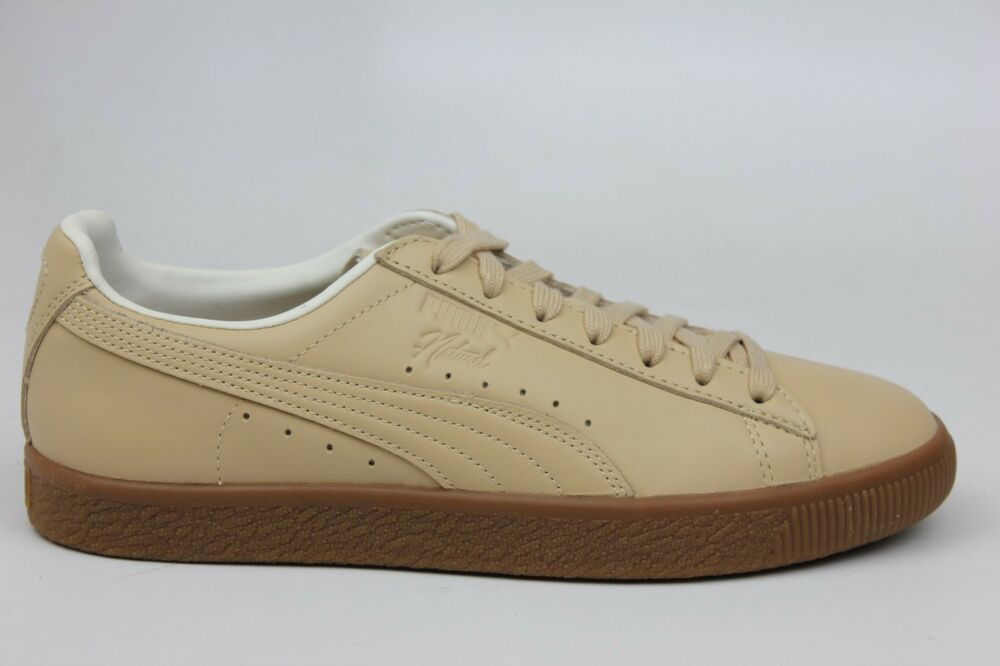 PUMA X NATUREL CLYDE TAN LEATHER GUM BOTTOM homme Taille SNEAKERS 364451-01