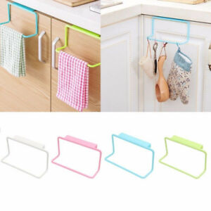 Over-Door-Tea-Towel-Holder-Rack-Rail-Cupboard-Hanger-Bar-Hook-Bathroom-Kitchen