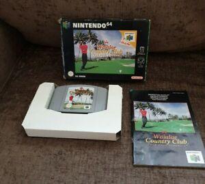 Nintendo 64 N64 Waialae Country Club verdadero Golf Classics Reino Unido PAL versión 90s Retro