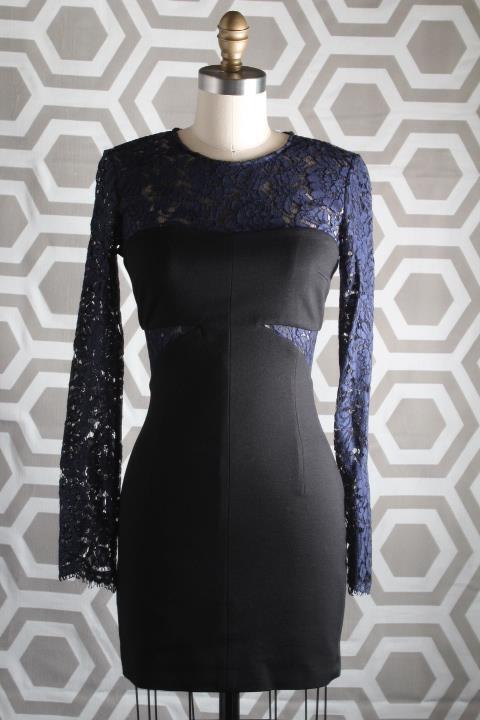 Neuf Avec Étiquettes Dentelle MSGM envoituret Illusion haut robe marine noir 38  490