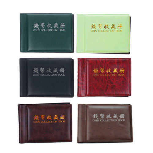 60 Coins Album Coin Money Penny Collecting Book Holders Collection Storage BR