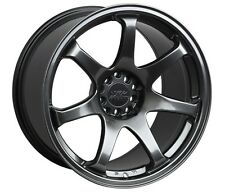 XXR 551 16X8 Rims 4x100/114.3 +21 Chromium Black Wheels (Set of 4)