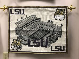 f51632d1f Image is loading LSU-Louisiana-State-University -Tigers-Football-Tapestry-Wall-