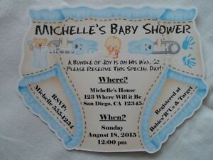 unique personalized baby shower diaper invitations twins gender
