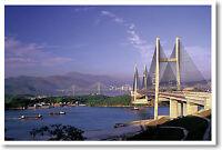 Cable Bridges Hong Kong China - Poster