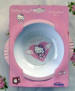 475055588 Image is loading HELLO-KITTY-ANGELS-SANRIO-TRUDEAU-PLASTIC-BOWL-16oz-