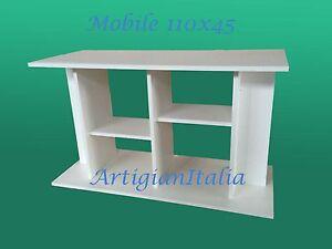 Supporto tavolo mobile per acquario o tv cayman 110 bianco for Mobile per acquario