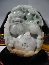 Natural jade carved lion statue/pendant