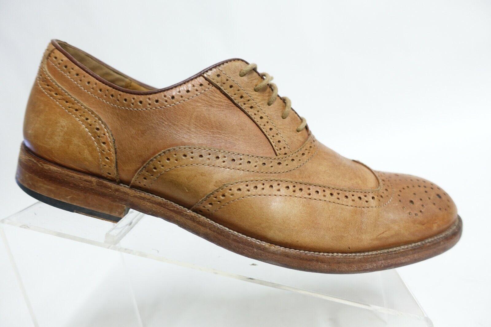JOHNSTON & MURPHY Brown Sz 9.5 M Men Leather Wingtip Oxfords