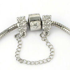 charm it safety chain European bead Fit charms bracelets Free shipping