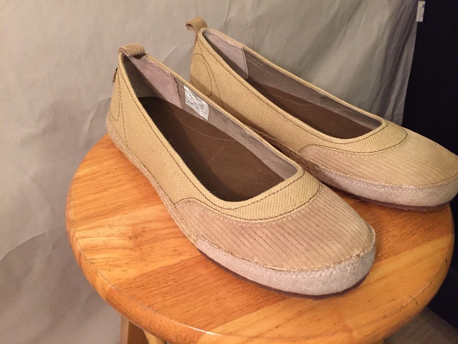 Patagonia NUKA Size 10 Women's Shoes in Rhetro Khaki Hemp Upper Material -Comfy!