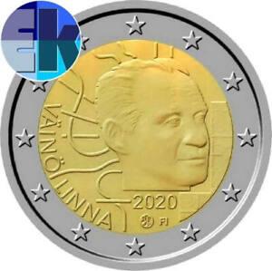 Ek // 2 euro Finlande 2020 Vaino Linna