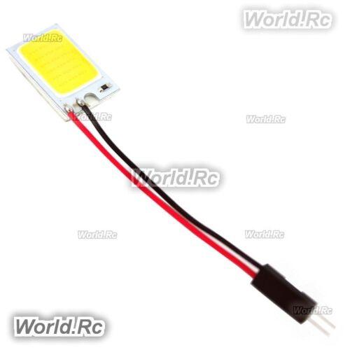2 Pcs 18 SMD COB LED Car Dome Light Panel Lamp 12V LE003-18WH White